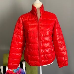 Relativity Bright Red Puffer Jacket B2